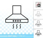 Línea negra simple icono de la capilla de cocina del vector ilustración del vector