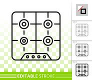 Línea negra simple icono del avellanador del vector stock de ilustración