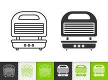 Línea negra simple icono del hierro de galleta del vector ilustración del vector