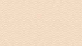 Línea onda blanca del arte abstracto del color en el papel pintado ligero suave marrón moderno, línea marrón suave concepto d stock de ilustración