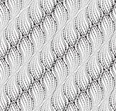 Línea ondulada modelo inconsútil del punto Textura floral abstraiga el fondo libre illustration