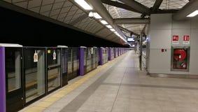 Línea púrpura de Skytrain en Bangkok Fotos de archivo libres de regalías