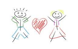 Línea par en amor Imagen de archivo libre de regalías