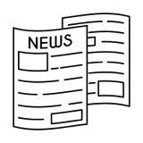 Línea periódico del icono Fotos de archivo libres de regalías