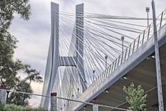 Línea pilar del puente Fotografía de archivo
