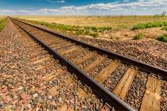 Línea pistas de la carga de ferrocarril imagen de archivo libre de regalías