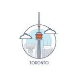 Línea plana icono deisgned - Toronto libre illustration