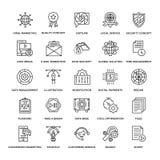 Línea plana iconos 2 del diseño web libre illustration