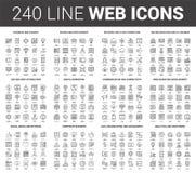 Línea plana iconos del web ilustración del vector