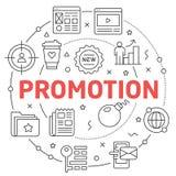 Línea promoción plana del ejemplo del círculo stock de ilustración