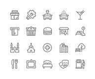 Línea puntos de iconos del interés libre illustration