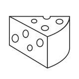 Línea queso del icono Fotografía de archivo