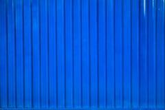 Línea rayada fondo del envase de la caja azul Foto de archivo libre de regalías