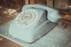 Línea receptor del vintage de teléfono imagenes de archivo