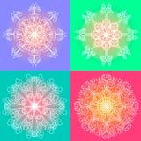 Línea redonda sistema del vector del ornamento Fotografía de archivo libre de regalías