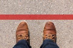 Línea roja fotografía de archivo