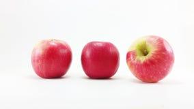 Línea roja de la manzana Fotografía de archivo