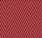 Línea rojo del suéter del modelo que hace punto Imagenes de archivo