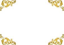 Línea romana diseño del modelo del estilo del vintage de la vieja del oro del marco del estuco cultura griega antigua de las pare Imágenes de archivo libres de regalías