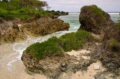 Línea rugosa de la costa, Tonga Imagenes de archivo