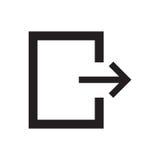 Línea salida del icono Fotos de archivo