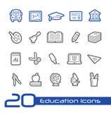 Línea serie de //de los iconos de la educación Foto de archivo libre de regalías