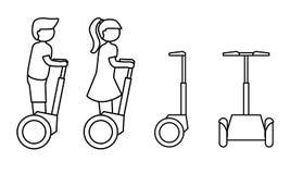 Línea simple icono de artilugio moderno del transporte Imágenes de archivo libres de regalías