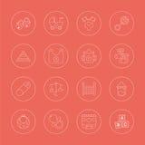 Línea sistema del bebé del icono Foto de archivo libre de regalías