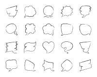 Línea sistema del drenaje del carbón de leña de la burbuja del discurso del vector de los iconos ilustración del vector