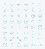 Línea sistema del icono de la flecha Foto de archivo libre de regalías