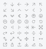 Línea sistema del icono de la flecha Imágenes de archivo libres de regalías