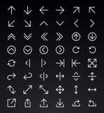 Línea sistema del icono de la flecha Fotografía de archivo