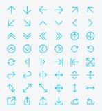 Línea sistema del icono de la flecha Fotos de archivo libres de regalías