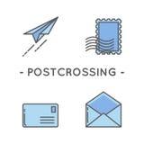 Línea sistema del icono del sello del color Fotos de archivo libres de regalías