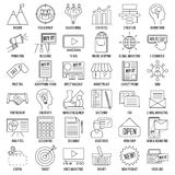 Línea sistema del márketing del icono libre illustration