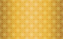 Línea tailandesa Art Seamless Pattern Background del vintage del oro Foto de archivo libre de regalías