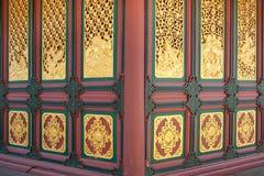 Línea tailandesa de oro arte del estilo Imagenes de archivo