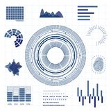 Línea tarjeta de HUD Interface Futuristic Graphic Thin del fondo Vector Fotografía de archivo