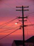 Línea telefónica silueta Fotografía de archivo