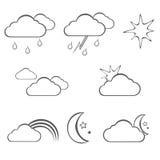 Línea tema de los iconos del tiempo libre illustration