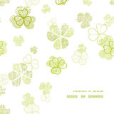 Línea texturizada materia textil esquina del trébol del marco del arte Imagenes de archivo