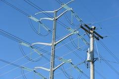 Línea torres de Electical Foto de archivo libre de regalías