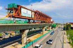 Línea Tránsito-verde rápida total de Bangkok imagen de archivo