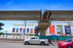 Línea Tránsito-verde rápida total de Bangkok imagenes de archivo