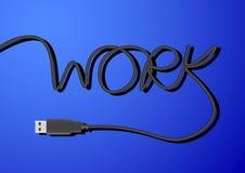 Línea trabajo del USB de la palabra Imágenes de archivo libres de regalías