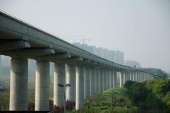Línea 16 tren Shangai del metro Fotografía de archivo