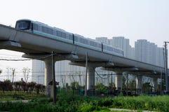 Línea 16 tren Shangai del metro Foto de archivo libre de regalías