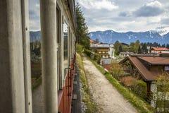 Línea turística del tren de Zillertal de Austria fotografía de archivo libre de regalías