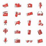 línea universal color de los iconos de la película de las celebridades libre illustration