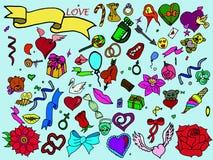Línea vector de Valentine Day del diseño del arte Fotografía de archivo